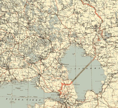 Suojärvi Kartta